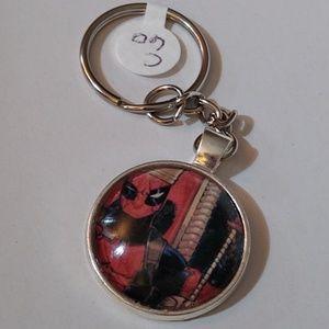 Keychain Deadpool Comic Handmade Unique